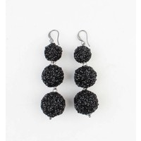 "Earring ""Silvana"" black"