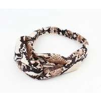 "Hair band  ""Jaline"" brown, per 2pcs."