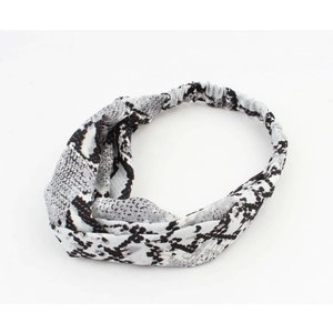 "Hair band  ""Jaline"" grey, per 2pcs."