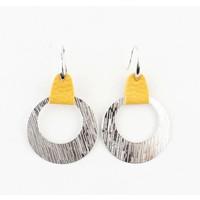 """Earring  """"Sille"""" ochre/silver"""