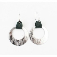"""Earring  """"Sille"""" green/silver"""
