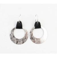 """Earring """"Sille"""" black / silver"""