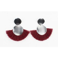 "Earring  ""Venice"" red"