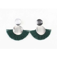 """Earring  """"Venice"""" green"""