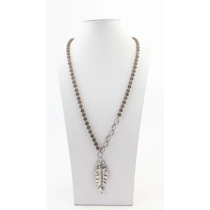 "Necklace  ""Annalie"" grey"