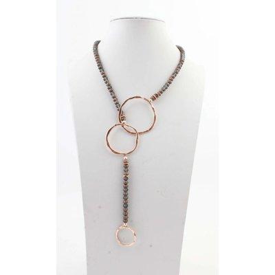 """Necklace  """"Violette"""" old Pink"""