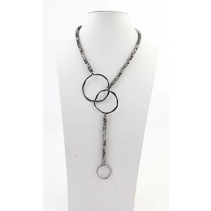 "Necklace  ""Violette"" grey"