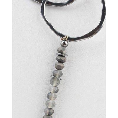 "Necklace  ""Violette"" grey"