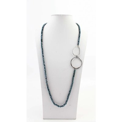 "Necklace  ""Rozalie"" blue"