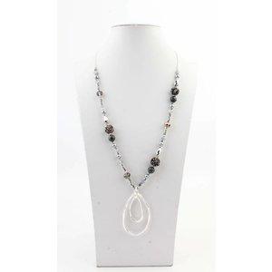 "Necklace  ""Roseline"" silver/grey"