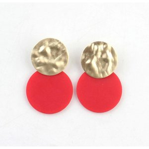 "Earring ""Fides"" red"