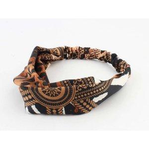 """Headband """"Terah"""" rust, per 2pcs."""