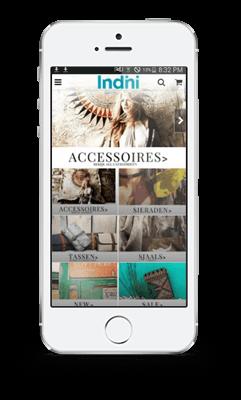 android/iphone indini mode app voorbeeld