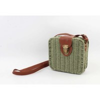 "Crossbody bag""Songimvelo"" green/brown"