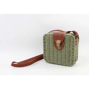 "Crossbody bag""Songimvelo"" green/brown"