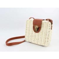 """Crossbody bag""""Songimvelo"""" beige/brown"""