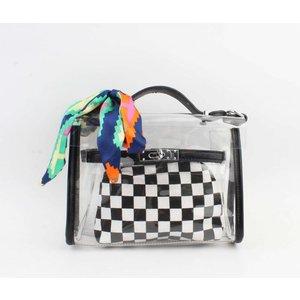 "Crossbody bag""Kapama"" black/white"