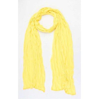"""Sjaal """"Uni Jersey S"""" geel"""