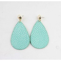 "Earring ""Liv"" turquoise/gold"