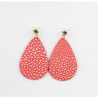 "Earring ""Liv"" red/gold"