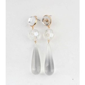 """Earring """"Anne"""" transparant/gold"""