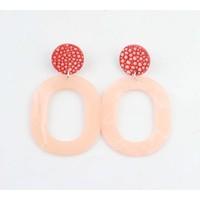 """Earring """"Mutale"""" mat pink"""
