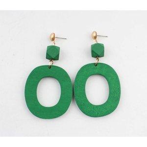 "Earring ""Lisa"" green"