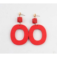"Earring ""Lisa"" red"