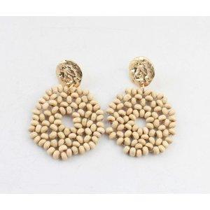 "Earring ""Yara beige"