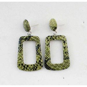"""Earring """"Elin"""" green"""