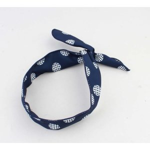 "Hair band ""Marit"" blue, per 2pcs"