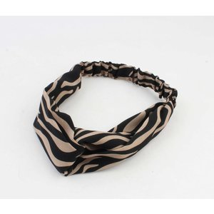 "Hair band ""Demi"" brown, per 2pcs"