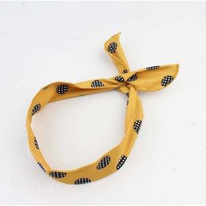 """Haarband """"Marit"""" geel, per 2st."""