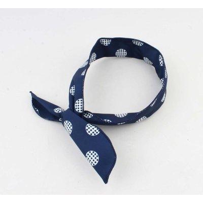 "Haarband ""Marit"" blauw, per 2st."