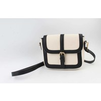 "Crossbody ""Noah"" wit/zwart"