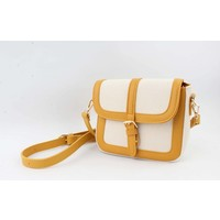 "Crossbody ""Noah"" wit/geel"