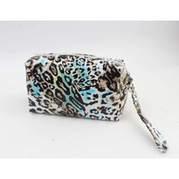 "Toilet bag ""Tirza"" brown/turquoise"