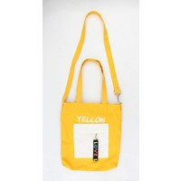 "Canvas tas ""Pebble"" geel"