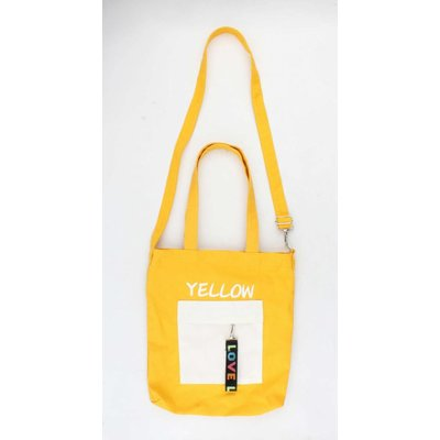 "Canvas bag ""Pebble"" yellow"