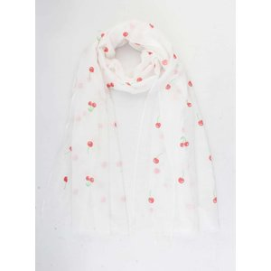 "Scarf ""Pamela"" white/red"