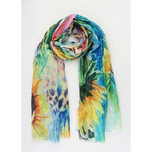 "Scarf ""Peggy"" yellow/multi"