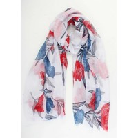 "Scarf ""Mona"" red"