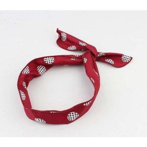"""Haarband """"Marit"""" rood, per 2st."""
