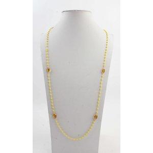 """Halskette """"Robijn"""" gold/gelb"""