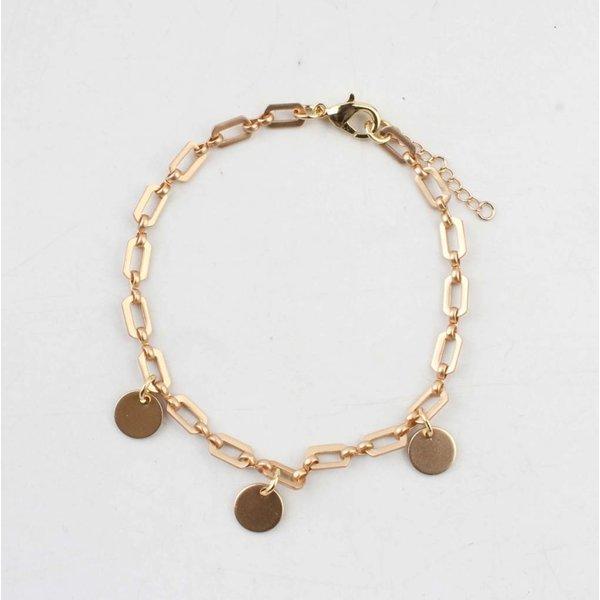 """Armband """"Rosa"""" goud"""