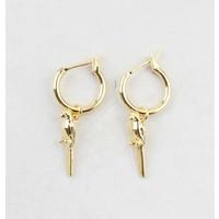 """Earring """"Rubiy"""" gold"""