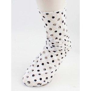 "Socks ""Sienna"" white/black"