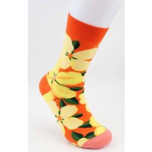 """Sokken """"Sigrid"""" oranje"""