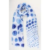 """Sjaal """"Spring"""" blauw"""