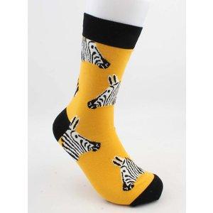 """Sokken """"Sija"""" geel/zwart"""